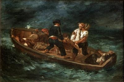 After a Shipwreck, 1847-Eugene Delacroix-Giclee Print