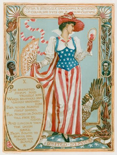 After a Struggle Involving a Question of Colour-Walter Crane-Giclee Print