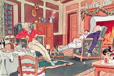 After Christmas Lunch--Giclee Print