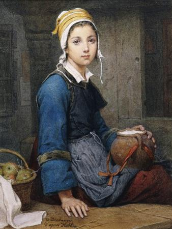The Young Milk Maid by after Hublin O. Deschanger