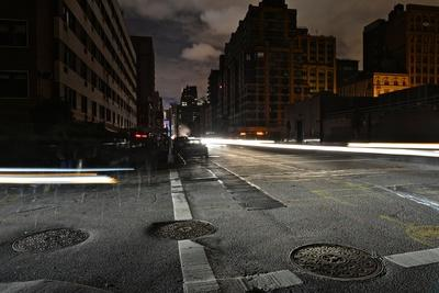 After Hurricane Sandy, New Yorkers Experienced One of the Darkest Halloween Nights Ever-Kike Calvo-Framed Photographic Print