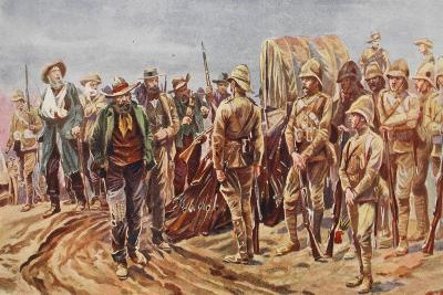 After Paardeberg: Cronje's Followers Delivering Up their Rifles--Giclee Print