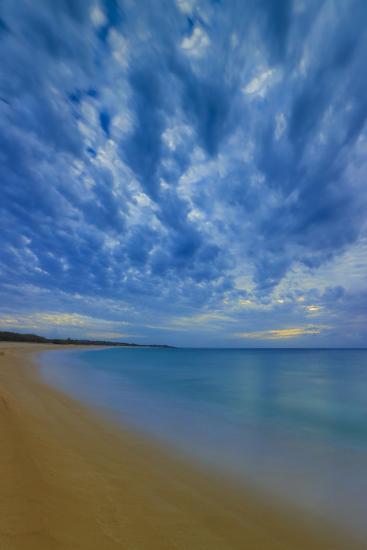 After Sunset at Papohaku Beach, West End, Molokai, Hawaii-Richard A Cooke III-Photographic Print