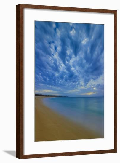 After Sunset at Papohaku Beach, West End, Molokai, Hawaii-Richard A Cooke III-Framed Photographic Print