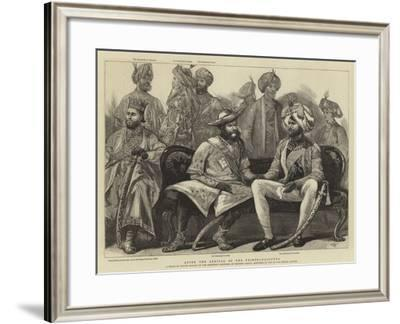 After the Arrival of the Prince, Calcutta-Joseph Nash-Framed Giclee Print