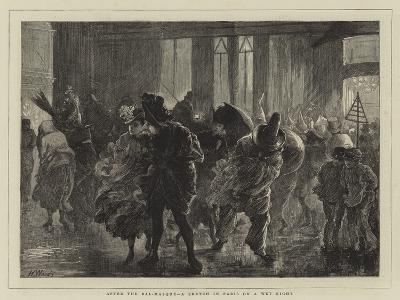 After the Bal-Masque, a Sketch in Paris on a Wet Night-Henry Woods-Giclee Print