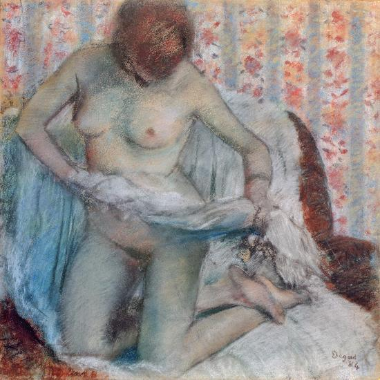 After the Bath, 1884-Edgar Degas-Giclee Print