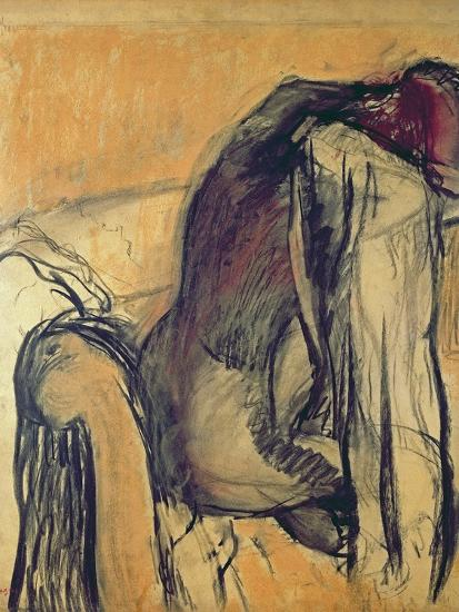 After the Bath, 1905-7-Edgar Degas-Giclee Print