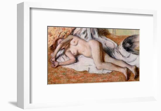 After the Bath Or, Reclining Nude, circa 1885-Edgar Degas-Framed Giclee Print