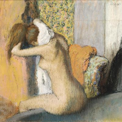 After the Bath, Woman Drying Her Neck, 1898-Edgar Degas-Giclee Print