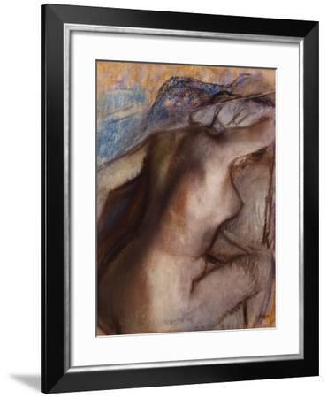 After the Bath, Woman Drying Herself-Edgar Degas-Framed Giclee Print