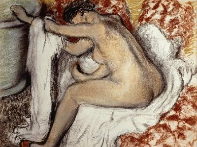After the Bath, Woman Drying-Edgar Degas-Giclee Print