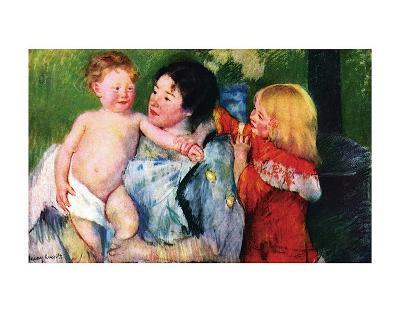 After the Bath-Mary Cassatt-Art Print