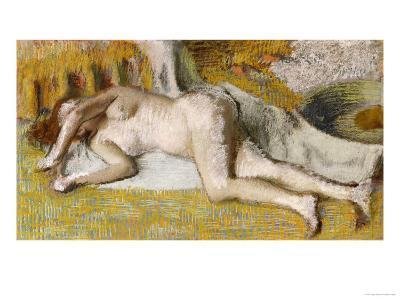 After the Bath-Edgar Degas-Giclee Print