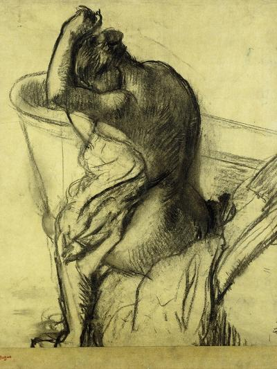 After the Bath-Edgar Degas-Giclee Print