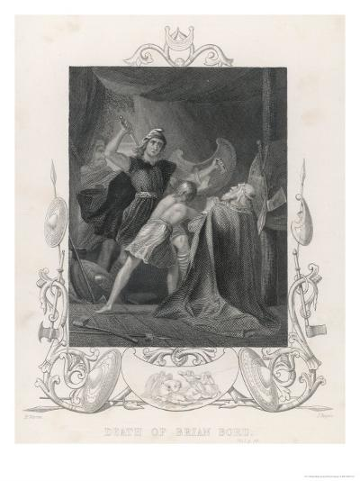 After the Battle of Clontarf Brian Boru is Killed by Brodar a Dane-H. Warren-Giclee Print