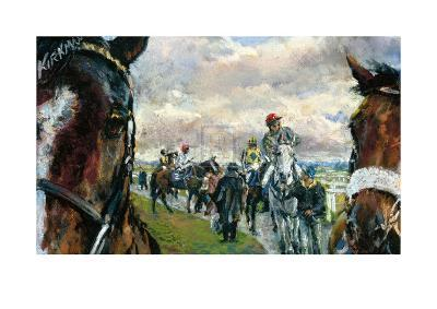 After The Bell-Newcastle Races-Jay Boyd Kirkman-Premium Giclee Print