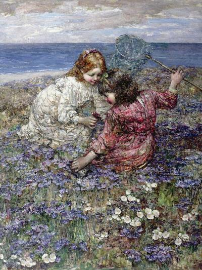 After the Butterfly Chase, 1911-Edward Atkinson Hornel-Giclee Print