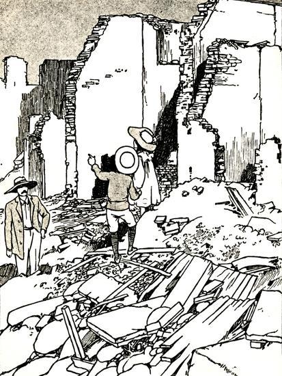 'After the Earthquake', 1907 (1912)-Charles Robinson-Giclee Print