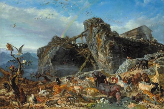 After the Flood: the Exit of Animals from the Ark, 1867-Filippo Palizzi-Giclee Print