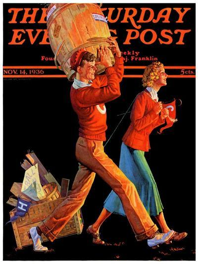 """""""After the Game,"""" Saturday Evening Post Cover, November 14, 1936-Monte Crews-Giclee Print"""