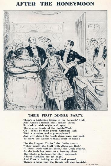'After the Honeymoon - Their first dinner party', 1927-Unknown-Giclee Print
