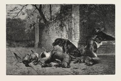 After the Hunt, Dogs, Deer, Hare, Ducks, 1876--Giclee Print