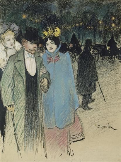 After the Play, about 1900-Th?ophile Alexandre Steinlen-Giclee Print