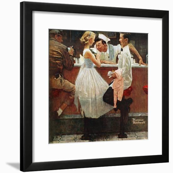 """""""After the Prom"""", May 25,1957-Norman Rockwell-Framed Giclee Print"""