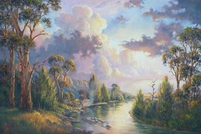 After the Rain - Kangaroo Valley-John Bradley-Giclee Print