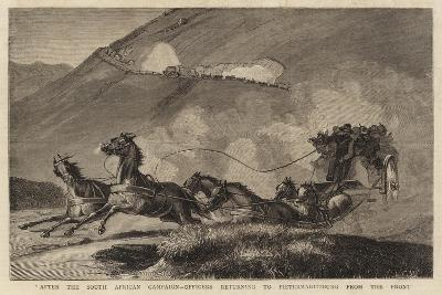 After the South African Campaign, Officers Returning to Pietermaritzburg from the Front--Giclee Print