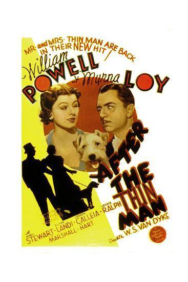 After the Thin Man, Myrna Loy, Asta, William Powell, 1936--Poster