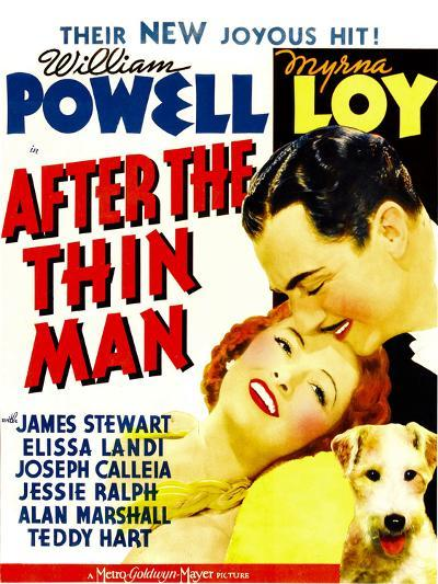 After the Thin Man, Myrna Loy, William Powell, Asta, 1936--Poster