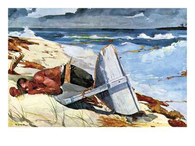 After the Tornado-Winslow Homer-Art Print