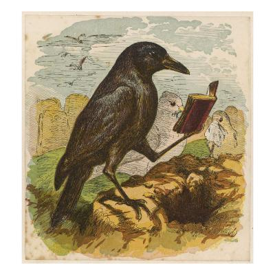 After the Unfortunate Death of Cock Robin, the Rook Reads the Burial Service--Giclee Print