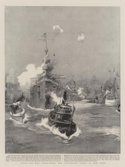 After the War, Welcoming the Victorious Fleet at New York--Giclee Print