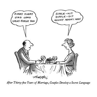 After Thirty-five Years of Marriage, Couples Develop a Secret Language - New Yorker Cartoon-Henry Martin-Premium Giclee Print