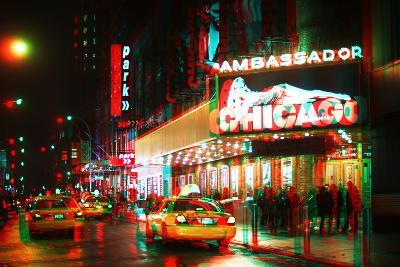 After Twitch NYC - Broadway Taxis-Philippe Hugonnard-Photographic Print