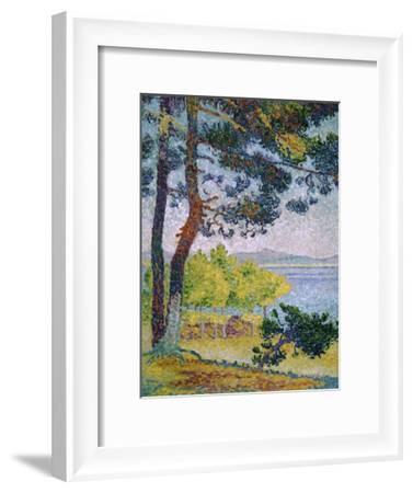 Afternoon at Pardigon-Henri Edmond Cross-Framed Giclee Print