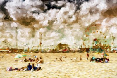 Afternoon Coney Island - In the Style of Oil Painting-Philippe Hugonnard-Giclee Print