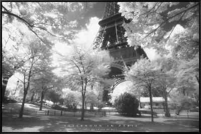Afternoon In Paris--Framed Canvas Print