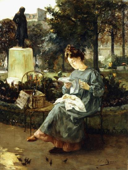 Afternoon in the Luxembourg Gardens-Victor Marec-Giclee Print