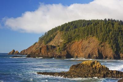 Afternoon Light along Short Beach and Indian Beach, Ecola State Park, Oregon Coast-Craig Tuttle-Photographic Print