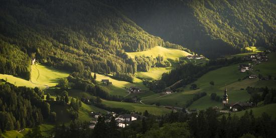 Afternoon Light On A Typical Italian Mountain Village-Aliaume Chapelle-Photographic Print
