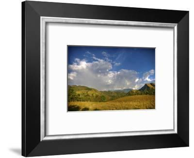 Afternoon Rainbow and Clouds-Nish Nalbandian-Framed Art Print