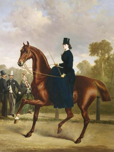 Afternoon Ride in Hyde Park, London-Alfred Frank De Prades-Giclee Print
