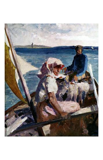 Afternoon Sea Breeze-Albert Edelfelt-Art Print