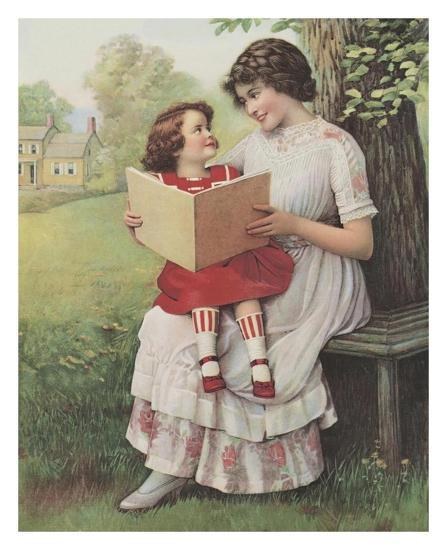 Afternoon Story Time--Art Print