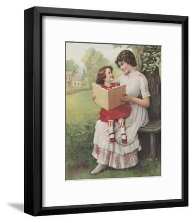 Afternoon Story Time--Framed Art Print