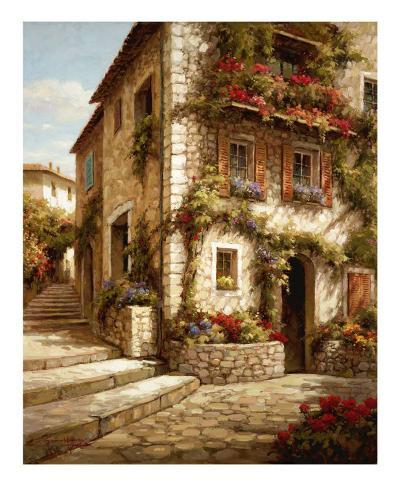 Afternoon Sun on the Steps-Steven Harvey-Art Print
